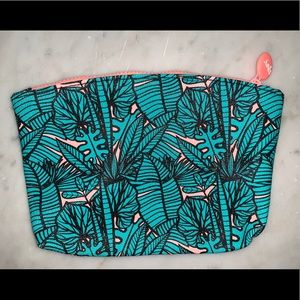 Palm Print Makeup Bag